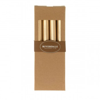 Riverdale dinerkaars Dinner Candle gold  4 stuks