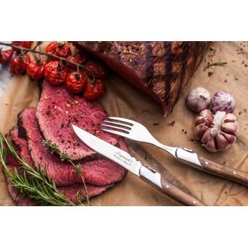 Laguiole Luxury Line steakmessenset olijfhout