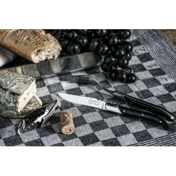 Laguiole Luxury Line steakmessen zwart ebbenhout