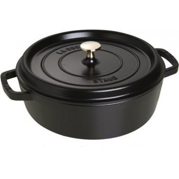 Staub  braadpan laag 26cm zwart