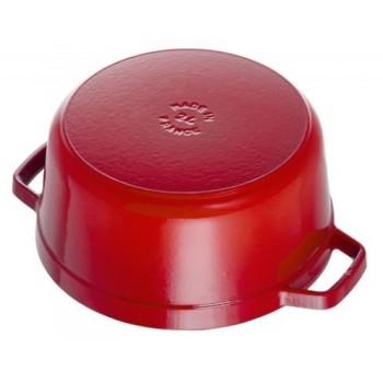 Staub braadpan kers rood bodem