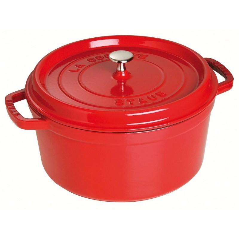 Staub braadpan kers rood 28 cm