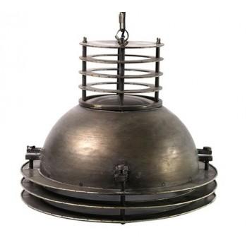 Industriële hanglamp Nestor grijs small