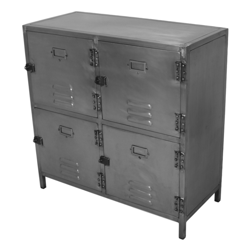 HSM lockerkast York natural steel 90x90cm