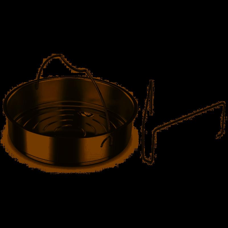 Fissler 22cm ongeperforeerde inzet voor snelkookpan met driepoot