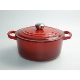 Ma Mère gietijzeren braadpan rood geëmailleerd - Relance