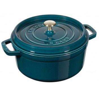 gietijzeren Staub braadpan 24cm La Mer zeeblauw