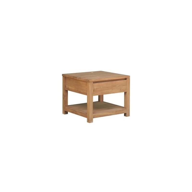 salontafel met lade teakhout 60x60cm