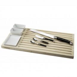 Laguiole Style de Vie -Tapasplank- Set met broodplank 8-delig