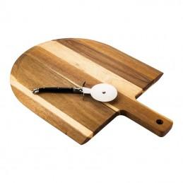 Laguiole Style de Vie Pizzaset-Pizzaroller met serveerplank