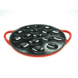 Relance gietijzeren poffertjesplaat -rood