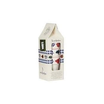 Melkbekers Boerenbont 3 stuks