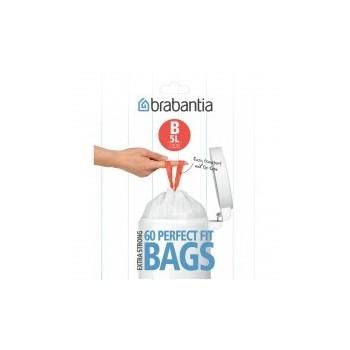 Afvalzak Brabantia B 5 liter dispenserverpakking 60 stuks