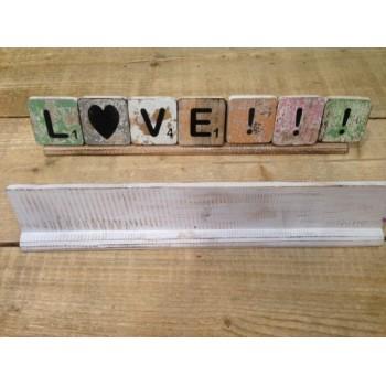 Scrabble letterplank