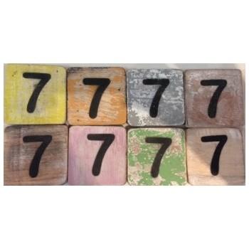 Scrabble cijfer 7 hout 6 x 6 cm