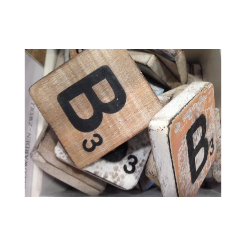 Scrabble letter A hout 6 x 6 cm