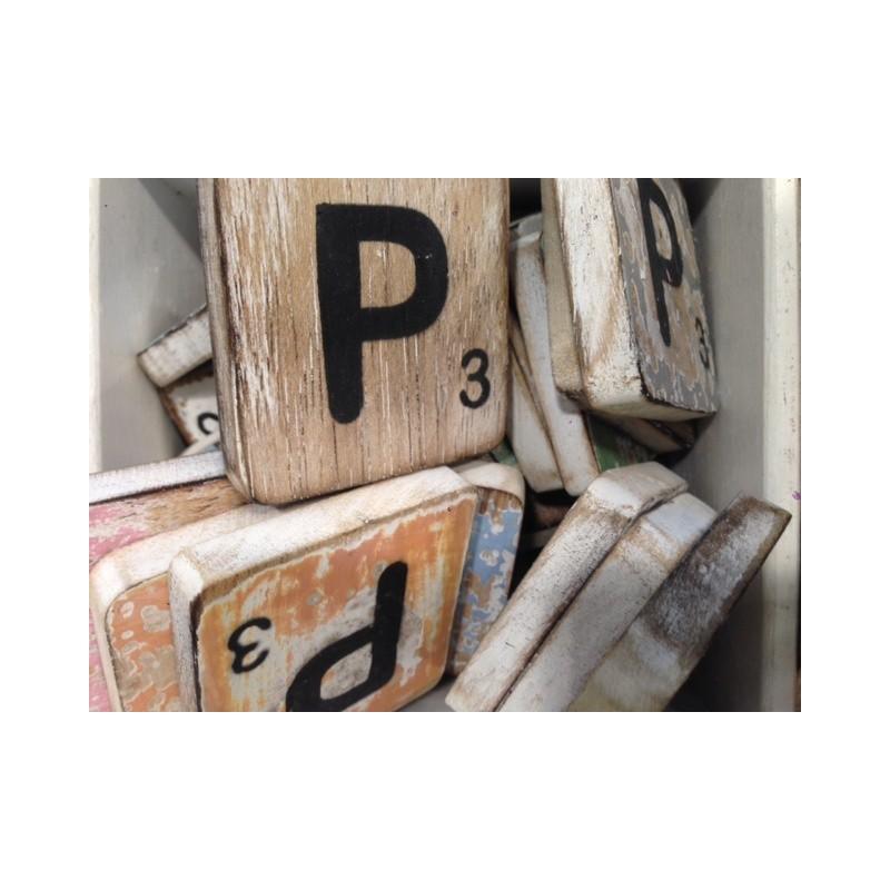 Scrabble letter P