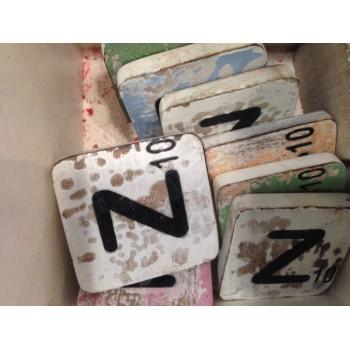 Houten scrabble letter Z