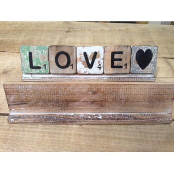 Scrabble letterplankje