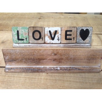 Scrabble letters hout 6 x 6 cm