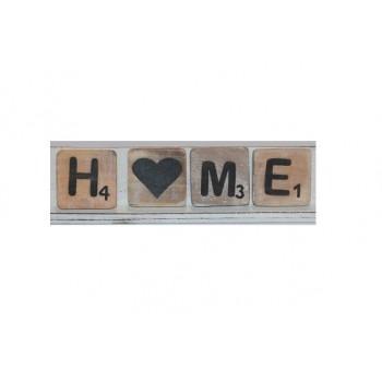 H♥ME in houten scrabbleletters