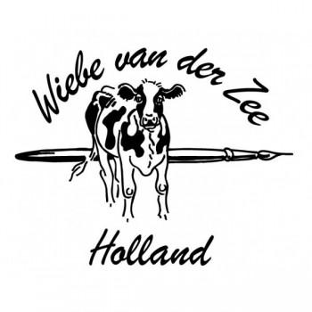 Slabestek met koe-decor Wiebe van der Zee