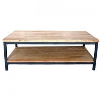 Moderne salontafel Yukon staal/hout