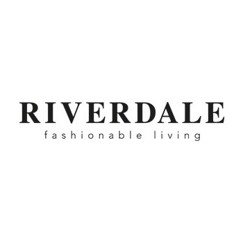 Riverdale tesktbord Flower Aqua 25cm