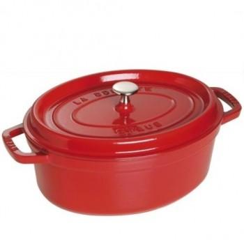 Staub braadpan ovaal 31cm rood