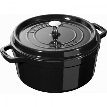 Braadpan Staub shiny black cocotte