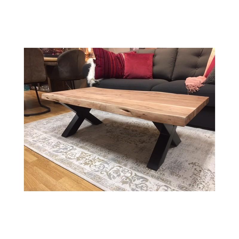 Boomstam salontafel acacia 130x 70 cm