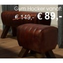 UrbanSofa leren gym hocker Leroy