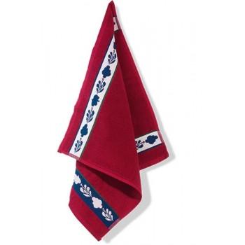 Boerenbont handdoek rood