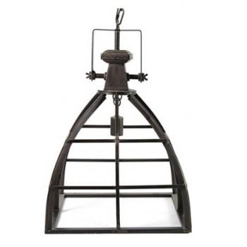 Industriële hanglamp Neelie vierkant